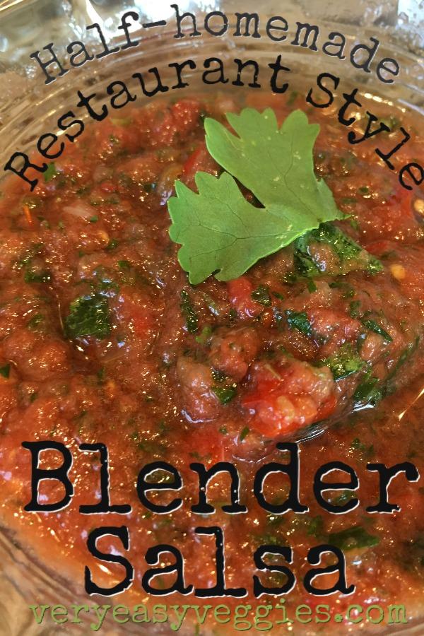 restaurant style easy blender salsa recipe
