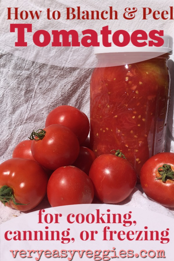 Wondering what to do with all your garden tomatoes? Here's how to blanch tomatoes for freezing or canning or to use in all your favorite tomato recipes!