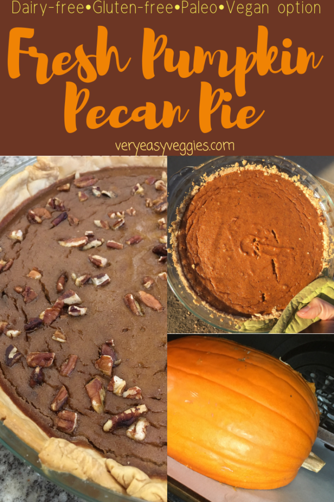 Check out this dairy free fresh pumpkin pie recipe! A great gluten free or paleo dessert recipe in time for the holidays.