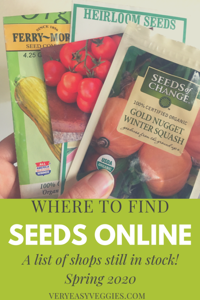 Wondering where to find seeds online? here's a list of stores still in stock for April 2020!