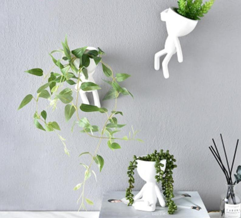 Unique pots for indoor plants: indoor planter people pots for succulents